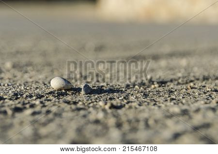 floor with stones within the focal plane and depth of field