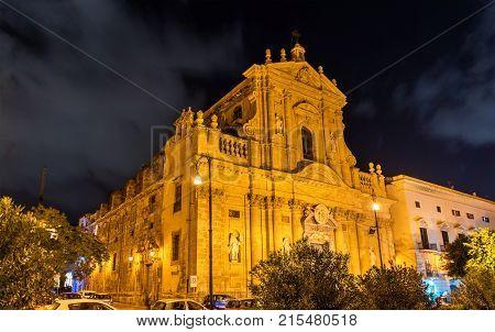 Santa Teresa alla Kalsa, a baroque church in Palermo, Sicily, Italy