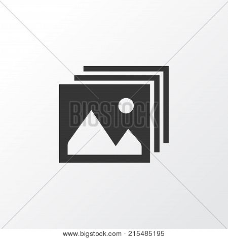 Photo icon symbol. Premium quality isolated gallery element in trendy style.