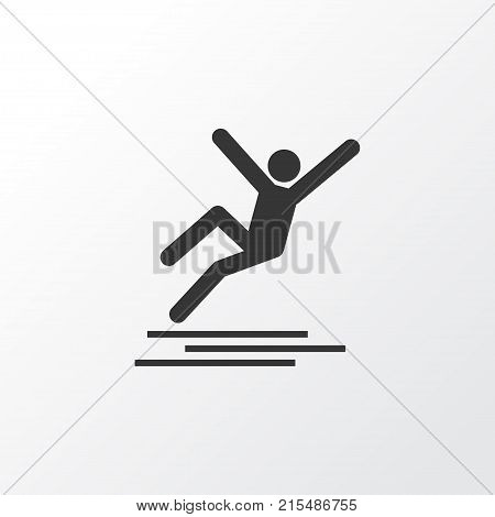 Icy surface icon symbol. Premium quality isolated slippery element in trendy style.