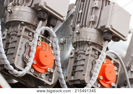 Detail Of Electric Engine, Part Of Electrical Machinery, Technology