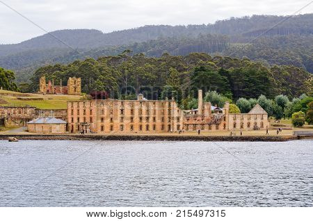 The Penitentiary and the Hospital at the Port Arthur Historic Site - Tasmania, Australia, 7 February 2014