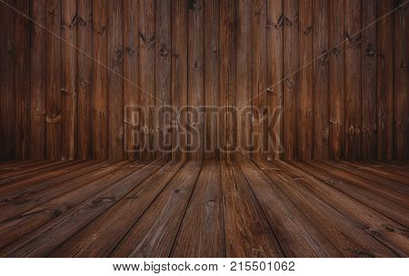Dark wood texture background, hardwood wall and floor