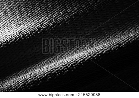 Background texture of the mat, made from dry papyrus,  ancient bed sheet in Thailand, black and white image.