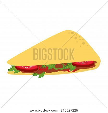 Quesadilla of mexican and fast food theme Isolated design Vector illustration