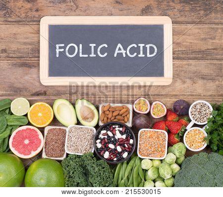 Food rich in folic acid