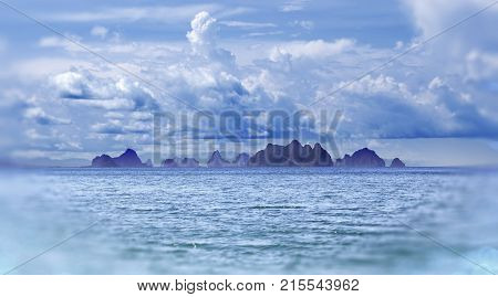 Island scenery. Seascape in Thailand. Phuket beach