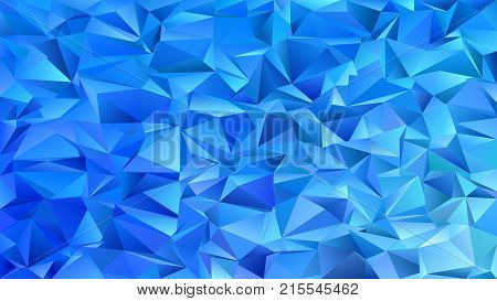 Abstract geometrical triangle tile mosaic background - vector graphic design from triangles in blue tones