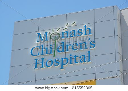 Melbourne, Australia - November 19, 2017: Monash Children's Hospital is a public specialist paediatric hospital in Clayton. It opened in 2017.