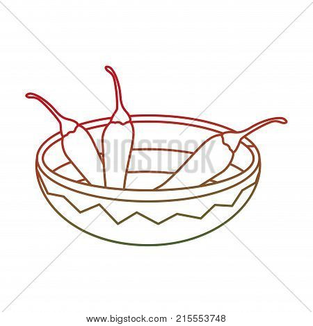 Chili pepper of vegetable organic and healthy food theme Isolated design Vector illustration