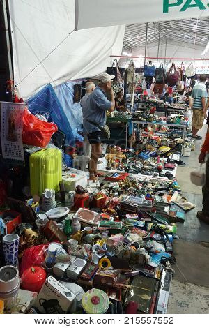 Vendors Sell Various Of Second Hand Stuffs
