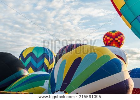 Every Fall dozens of hot air balloons gather in Prosser WA for three days of ballooning and harvest festival
