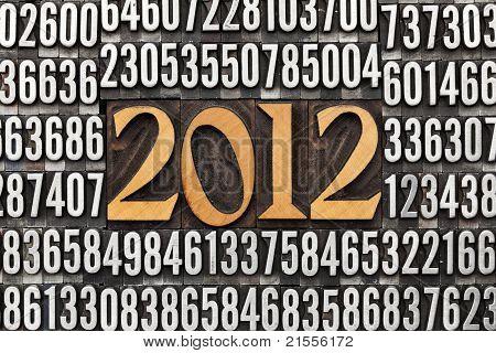 Year 2012 In Letterpress Type