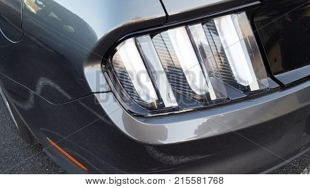 Detail New Led Taillight In Hybrid Sports Car