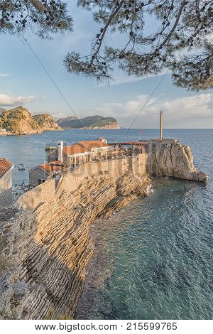 Old Venetian Castello Fortress is the main attraction of the Montenegrin town of Petrovac.