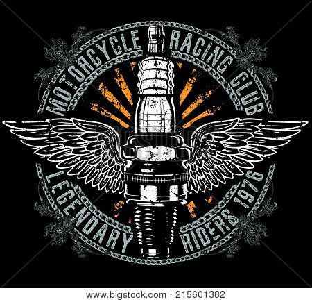 Vintage Motorcycle T-shirt Graphic fashion style art