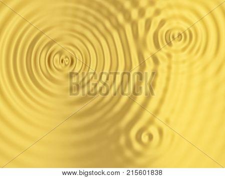 Golden rippled surface. 3d background for design