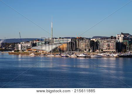 Harborfront In Oslo Norway