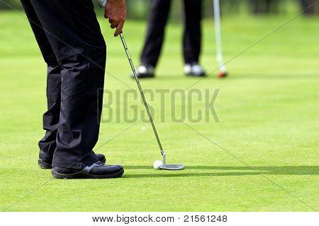 Putt On Golf Green