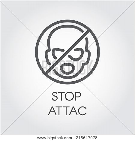 Stop Attack Outline Vector Photo Free Trial Bigstock