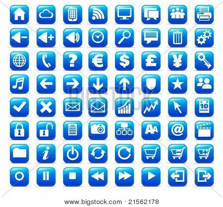 New Web and Media Internet button Icon
