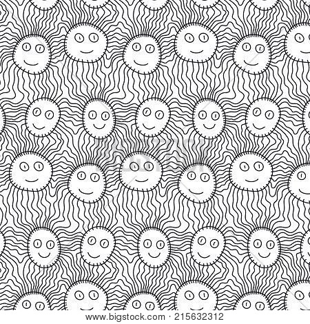 Pattern With Faces