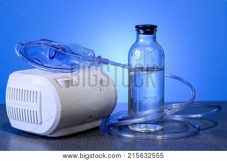 Medical nebulizer for the treatment of bronchitis.