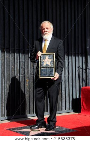 LOS ANGELES - NOV 20:  Nick Nolte at the Nick Nolte Star Ceremony on the Hollywood Walk of Fame on November 20, 2017 in Hollywood, CA