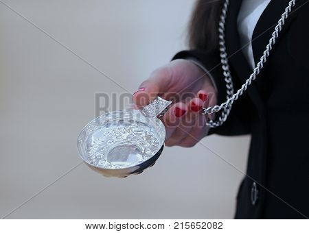 Woman With Red Nail Polish And The Silver Saucer Called Tastevin