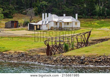 Dockyard slipway and Master Shipwright's House at Port Arthur Historic Site - Tasmania, Australia, 7 February 2014
