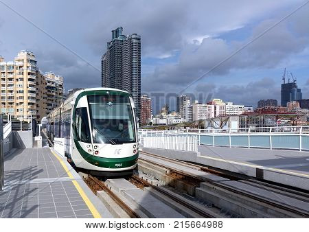 Train Of The New Light Rail System