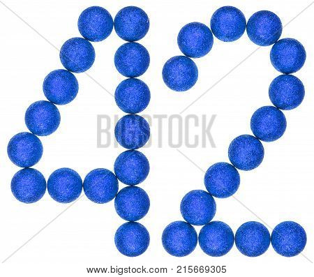 Numeral 42, Forty Two, From Decorative Balls, Isolated On White Background
