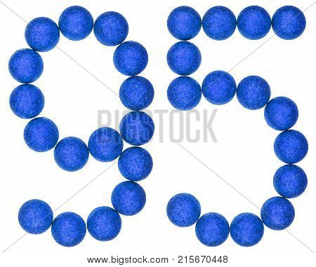 Numeral 95, Ninety Five, From Decorative Balls, Isolated On White Background