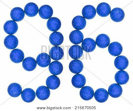 Numeral 96, Ninety Six, From Decorative Balls, Isolated On White Background