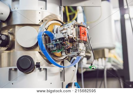 Transmission Electron Microscope In A Scientific Laboratory