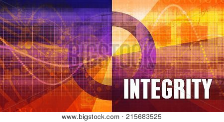 Integrity Focus Concept on a Futuristic Abstract Background