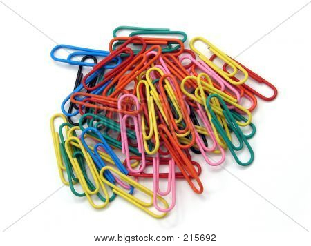 Rainbow Paperclip Pile