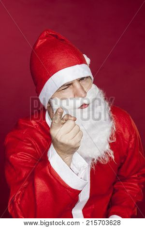 Santa Claus Threatens You With A Finger