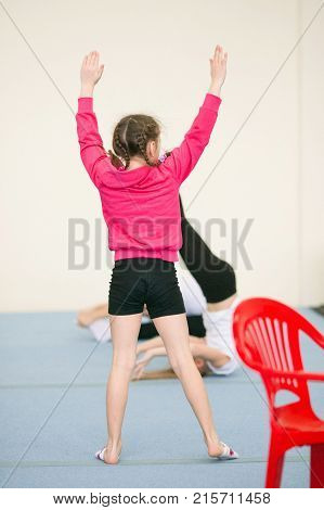Gomel, Belarus - 25 November 2017: Freestyle Competitions Among Young Men And Women In 2005-2007. In