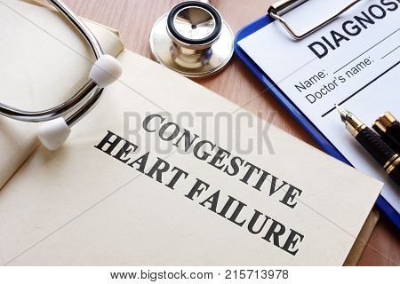 A Book with title congestive heart failure. poster