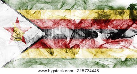 Zimbabwe smoke flag, illustration Zimbabwe smoke flag