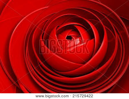 3D image abstract background flower. Petal detail. Pattern