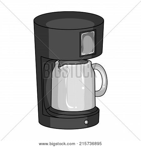 Coffee, cup, single icon in monochrome style.Coffee, cup, vector symbol stock illustration .