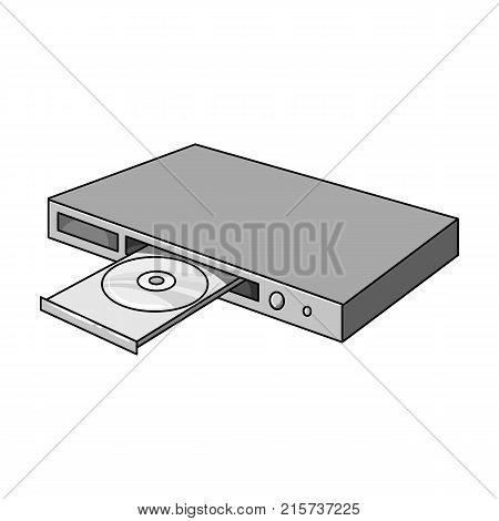 Player, single icon in monochrome style.Player vector symbol stock illustration .