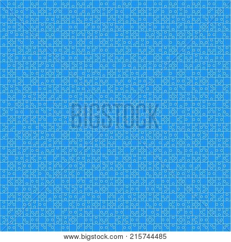 900 Blue Material Design Pieces Arranged in a Square - JigSaw. Jigsaw Puzzle Blank Template.