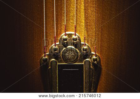 Tailpiece Of Acoustic Guitar