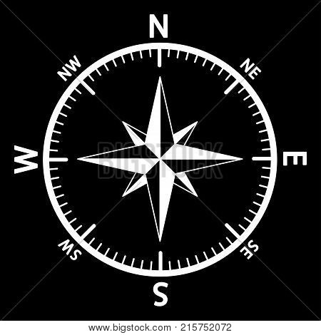 The emblem of the compass rose. Vector illustration.