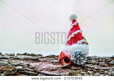 Christmas decoration on white background with copy space.