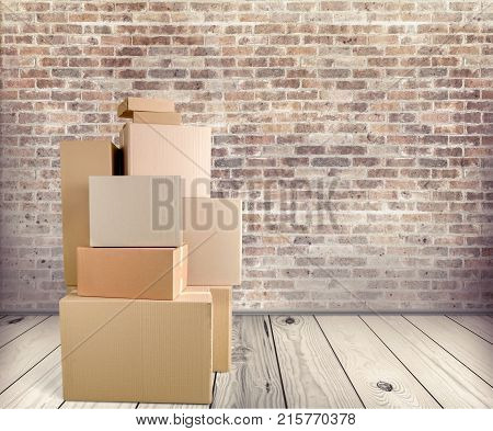 Background cardboard boxes nobody paper pack package