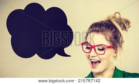 Happy Positive Business Woman, Accountant Or Teacher